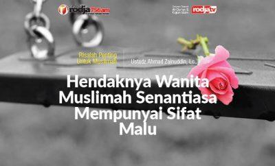 Download mp3 kajian Hendaknya Wanita Muslimah Senantiasa Mempunyai Sifat Malu