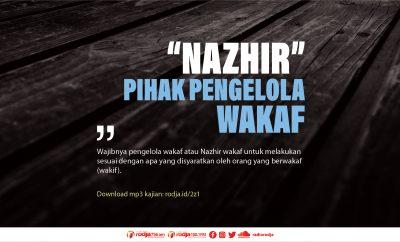 Download mp3 kajian Nazhir atau Pihak Pengelola Wakaf