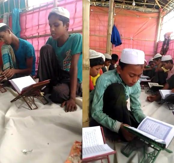 Madrasah Darus Sunnah wa Tahfidzul Qur'an Al-Karim di pengungsian Rohingya