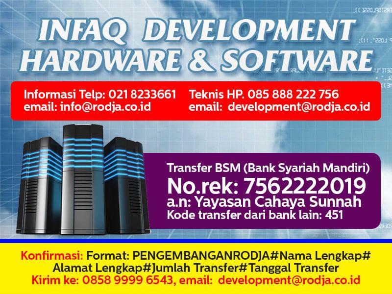 Infaq Development Hardware & Software (Juni 2017)