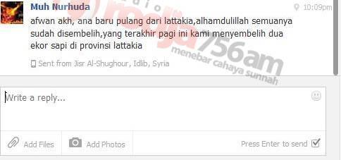 Pesan FB Ustadz Abu Sa'ad Muhammad Nur Huda, M.A. dari Suriah (17 Oktober 2013) - RadioRodja.com