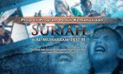 Download Dialog: Progres Program Peduli Kemanusiaan Suriah - 6 Al-Muharram 1437 H (Ustadz Abu Sa'ad Muhammad Nur Huda, M.A.)