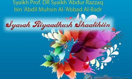 Riyadhush Shalihin: Bab Keutamaan Wudhu – Bab ke-185 (Syaikh Prof. DR 'Abdur Razzaq bin 'Abdil Muhsin Al-Badr)