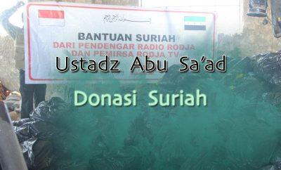 Download Kajian Ustadz Abu Sa'ad Muhammad Nur Huda - Donasi Suriah