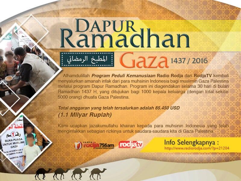 Download Poster: Program Dapur Ramadhan untuk Muslimin Gaza – Ramadhan 1437 / 2016