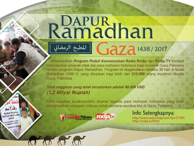 Download Poster : Program Dapur Ramadhan Gaza 1438