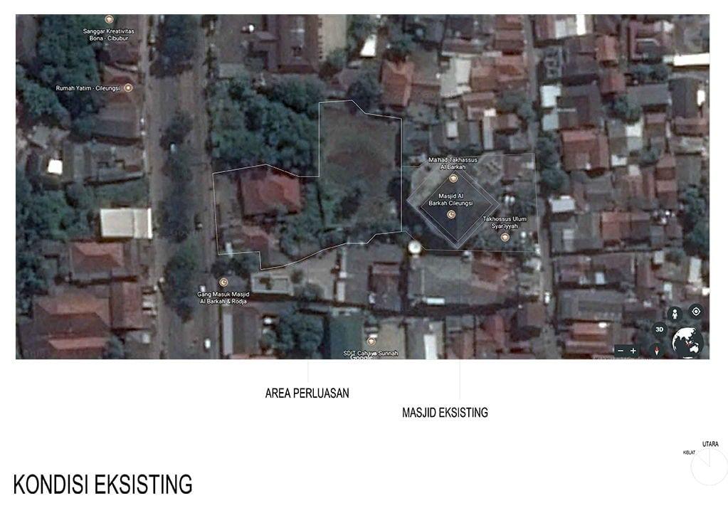 Informasi: Wakaf Pembebasan Tanah untuk Perluasan Masjid Al-Barkah Cileungsi 1439 H (Konsep)