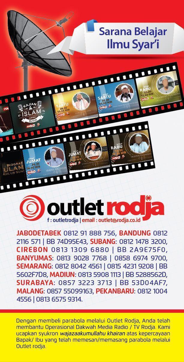Outlet Rodja: Brosur Pemasangan Paket Parabola Radio Rodja dan RodjaTV