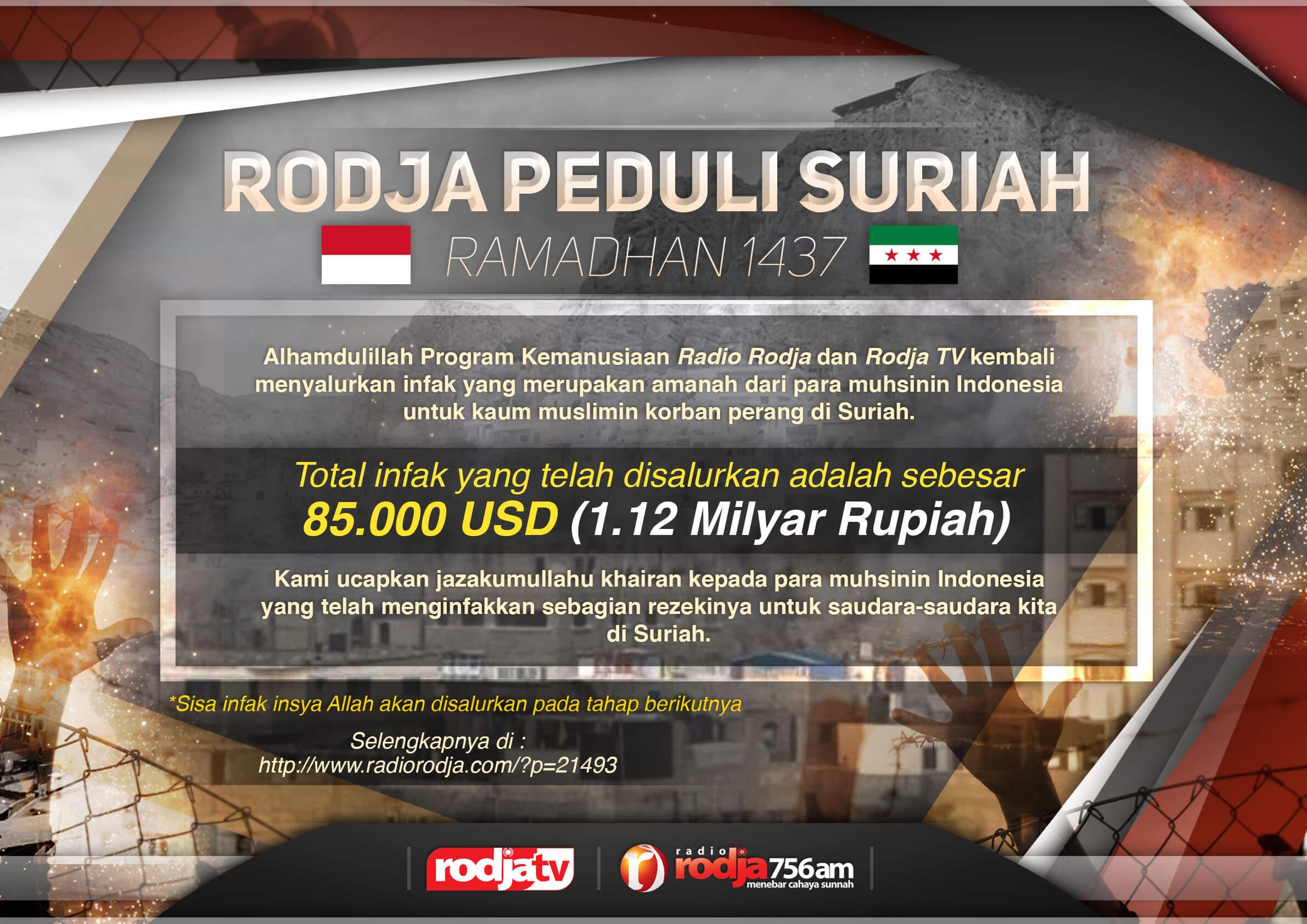 Poster Rodja Peduli Suriah - Ramadhan 1437